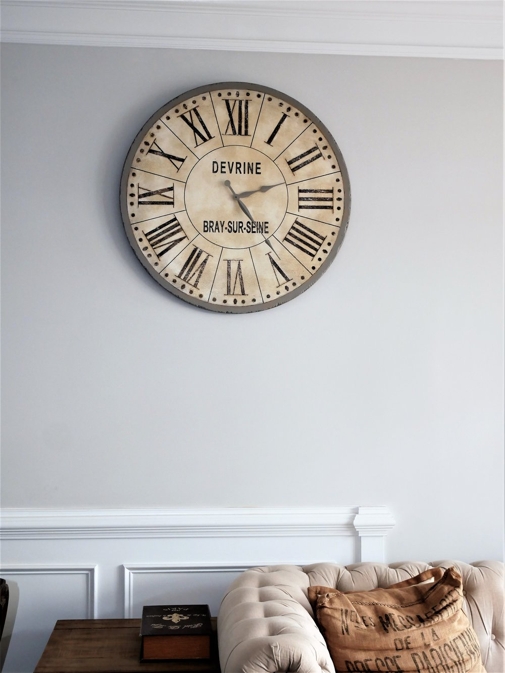 This is my most favorite clock. It's inspired by Restoration Hardware, although their version is not functional. #winning