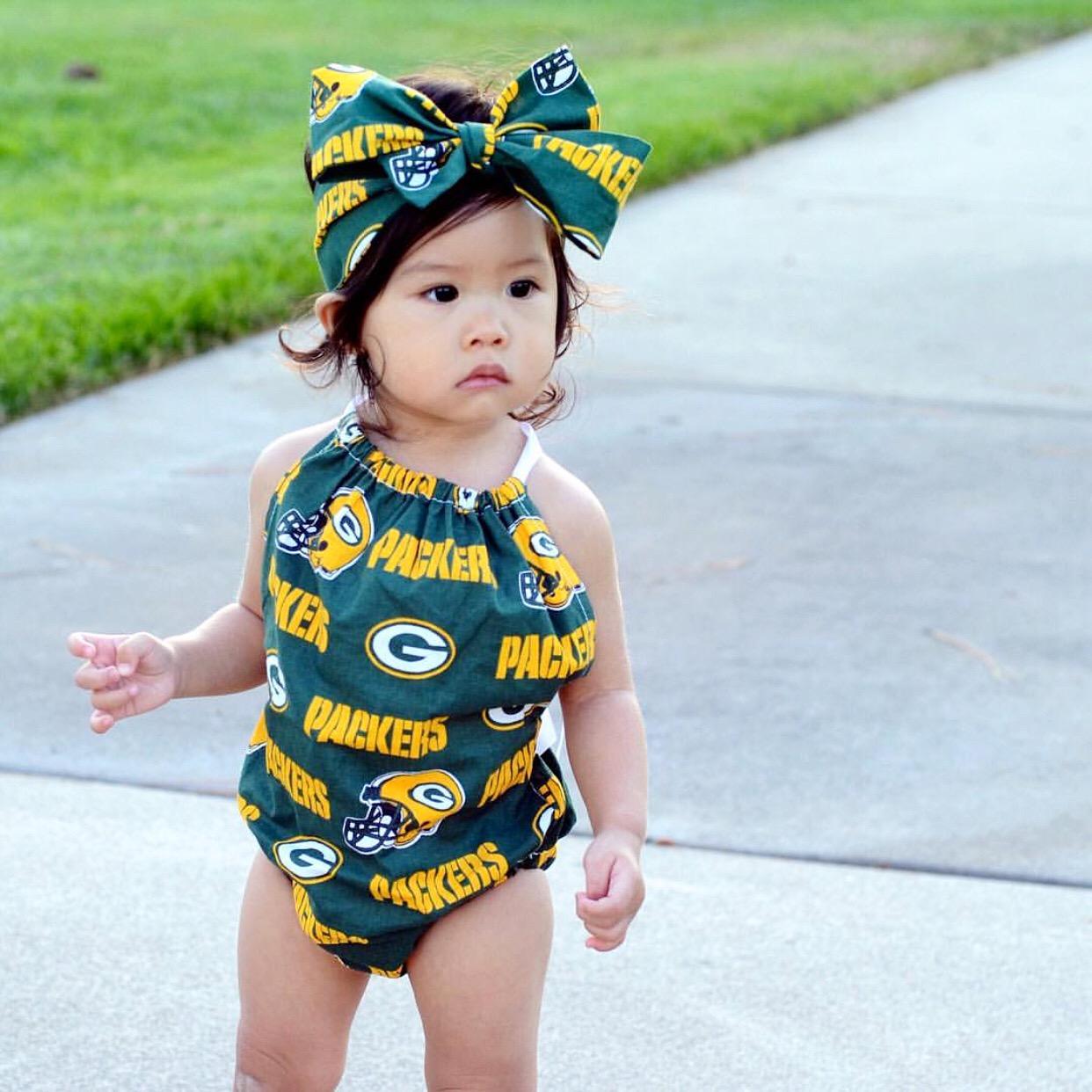 1a9cb1dcf4f Green Bay Packers Bubble Romper — JaydenandOlivia