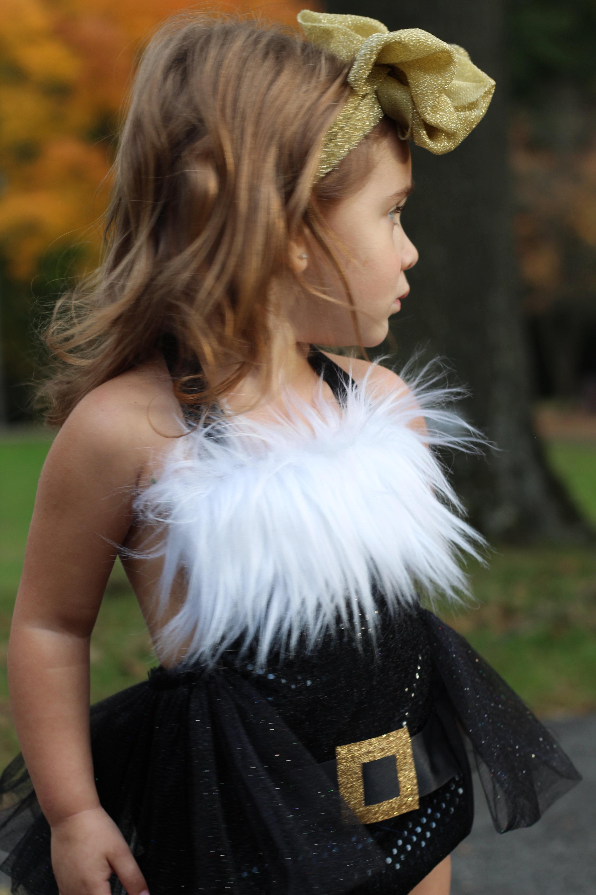 09bbad17f55 Extra Fluffy Sparkle BLACK Santa Romper GOLD BUCKLE — JaydenandOlivia