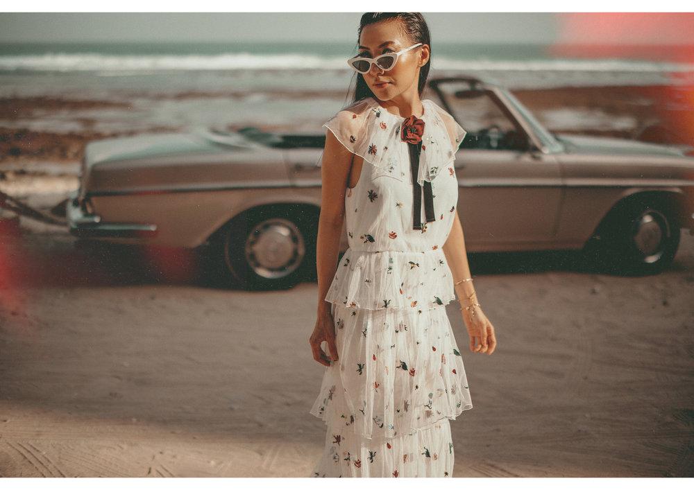 Sunglasses - Adam Selman x Le Specs, Dress - Disaya from SocietyA