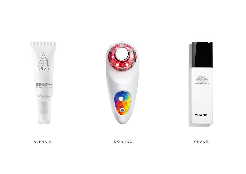 Image Credits: Alpha-H, Skin Inc, Chanel