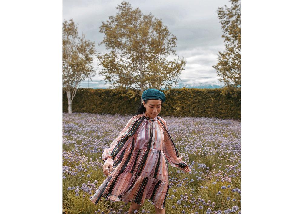 Lavender Field in Farm Tomita | Dress: Stine Goya