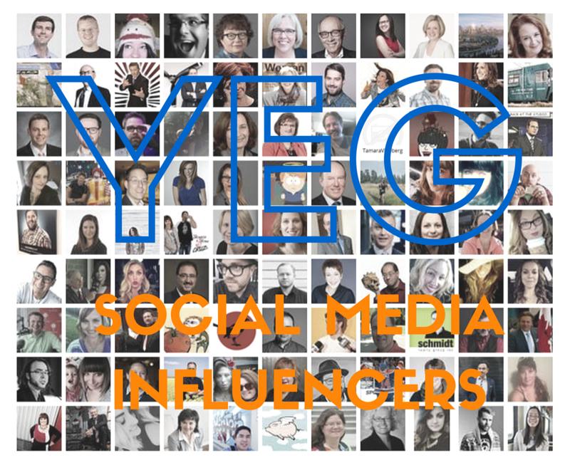 YEG Top Social Media Influencers 2015
