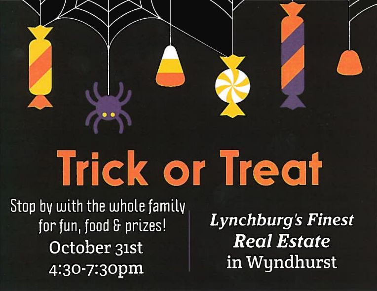 Stop in on Halloween with your costume to see us. We will have candy, food and CASH prizes! Looking forward to seeing you there.    From all of us at Lynchburg's Finest,    Happy Halloween!    434-381-3085