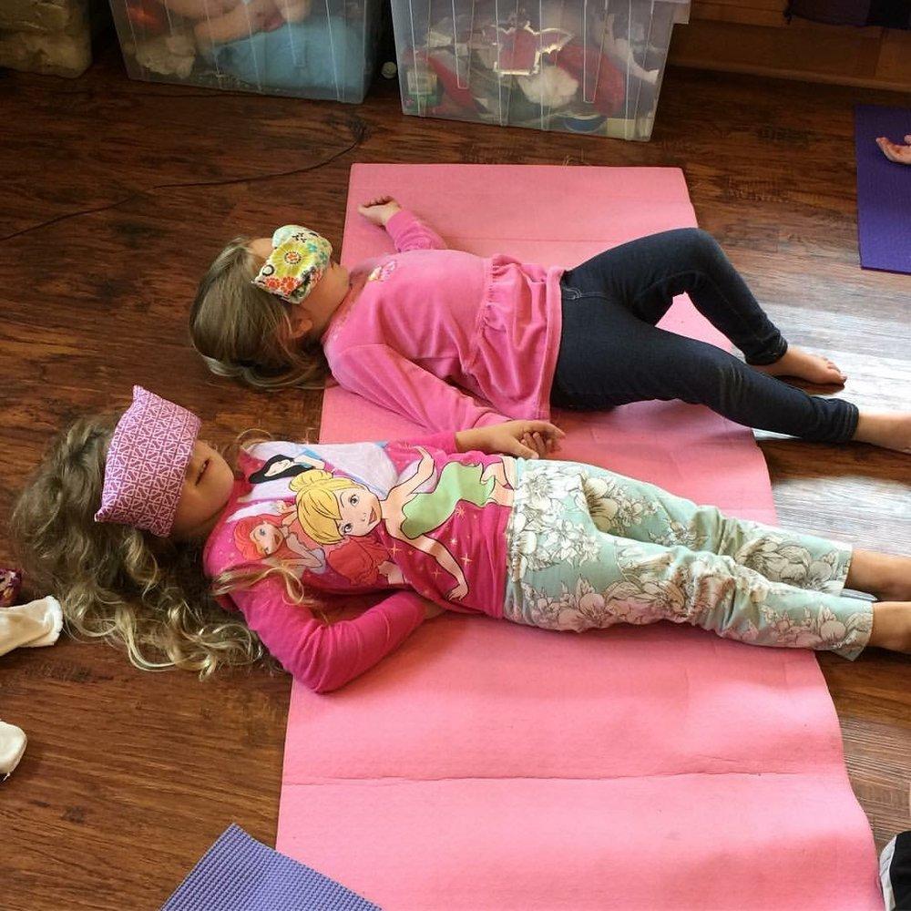 Kids' Preschool Yoga Class, Savasana