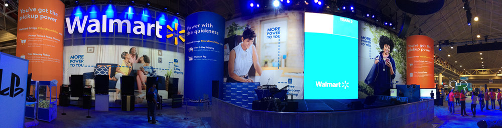 Walmart Booth at Essence Fest designed by Burrell Communications
