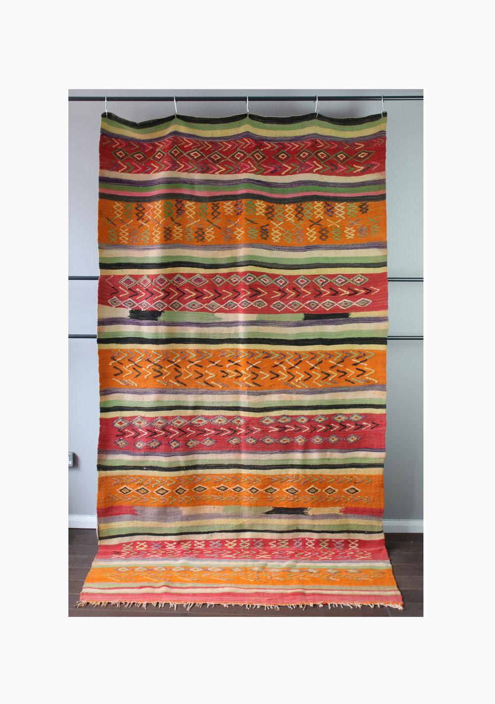 Vintage Wool Kilim Boucherouite 084