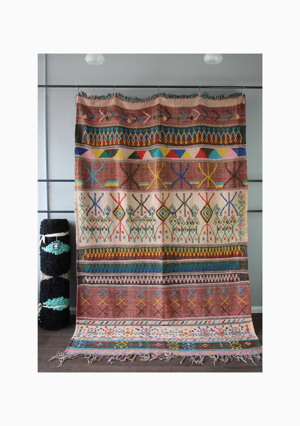 Vintage Wool Kilim Boucherouite 057