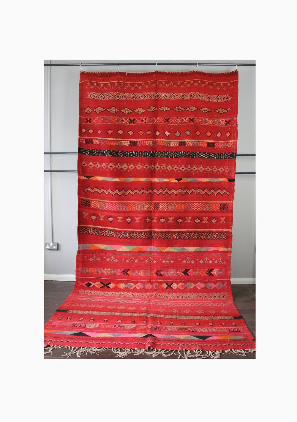 Vintage Wool Kilim-Boucherouite 186