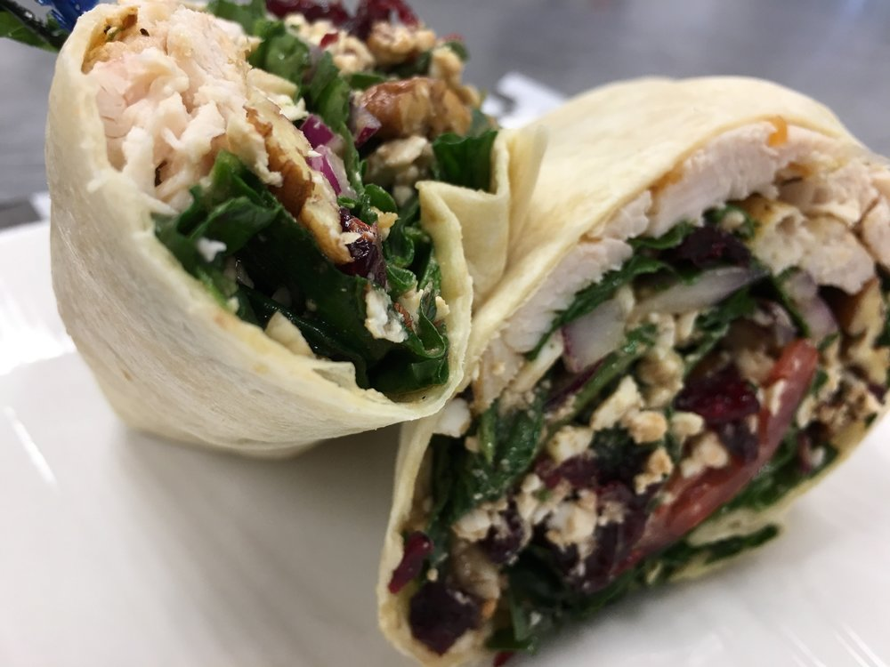 Twist Wrap - Join us for lunch, we offer house made soups, salads and sandwiches.