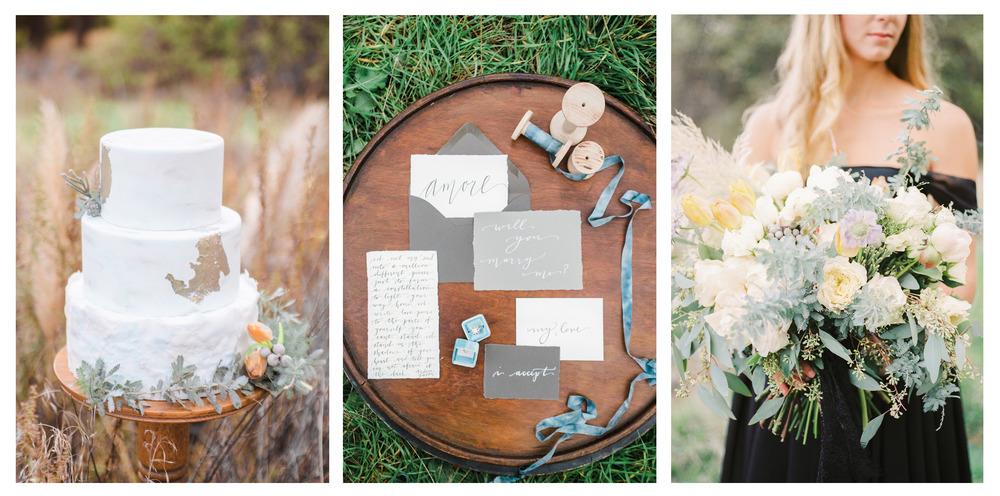 pirouettepaper.com | Pirouette Paper Company | Wedding Calligrapher | Romantic Proposal Wedding Shoot | Wedding Stationery Calligraphy