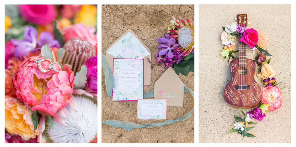pirouettepaper.com | Maui Wedding Invitations | Pirouette Paper Company | Wedding Invitations with a Tropical Theme
