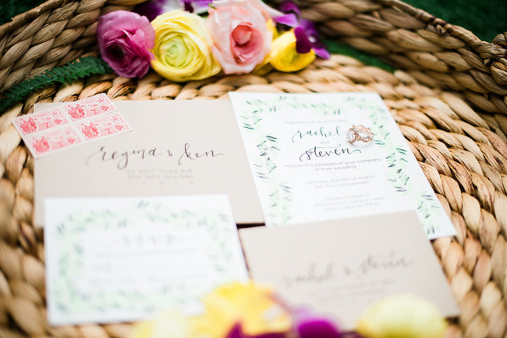 pirouettepaper.com | Angelica Chang Photography | Hawaiian Garden Wedding Inspiration | Pirouette Paper Company | Wedding Calligraphy and Invitations