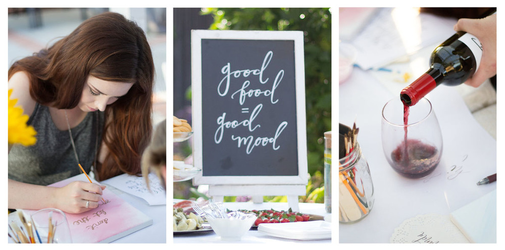 Cabernet and Calligraphy Workshop | Pirouette Paper Company