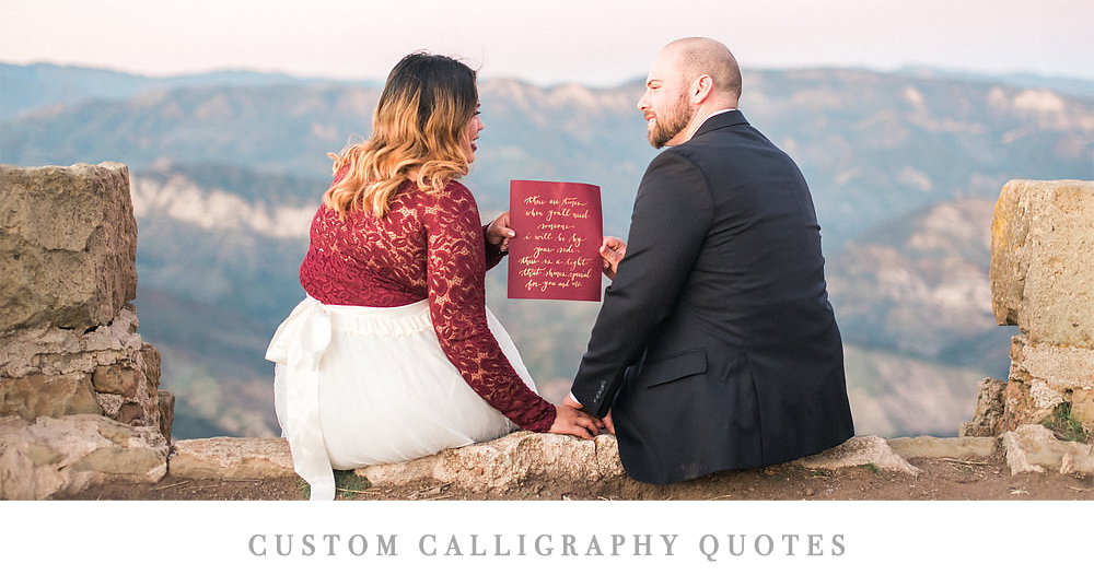 Custom Calligraphy Quotes | Pirouette Paper Company