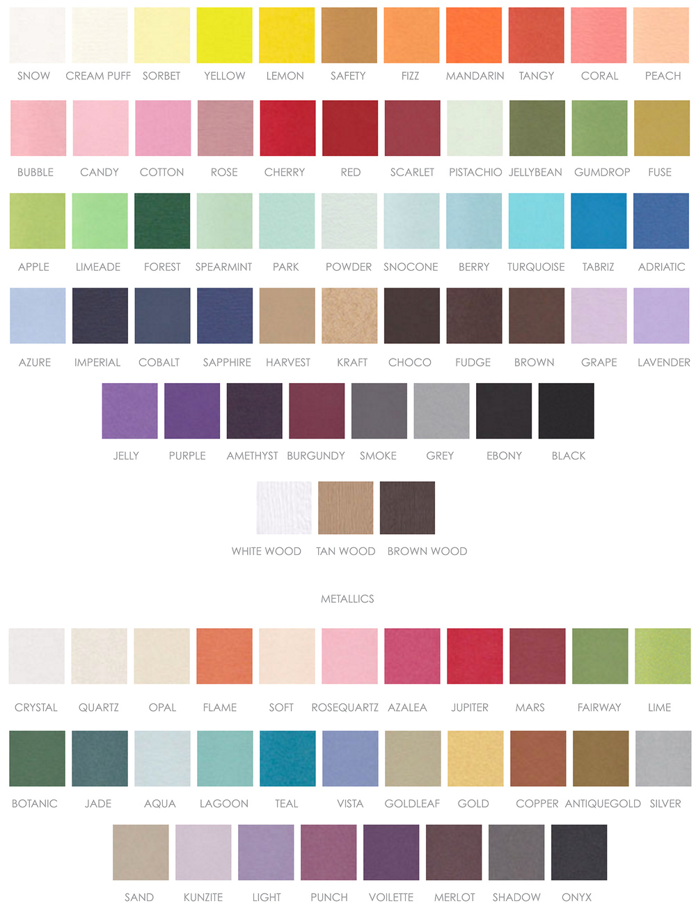 Paper Colors Offered by Pirouette Paper Company