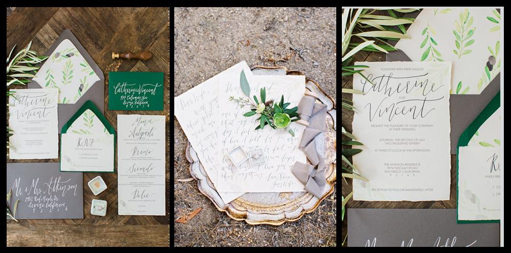 pirouettepaper.com | Savan Photography | Italian Backyard Inspired Wedding | Pirouette Paper Company | Wedding Calligraphy and Invitations and Menus