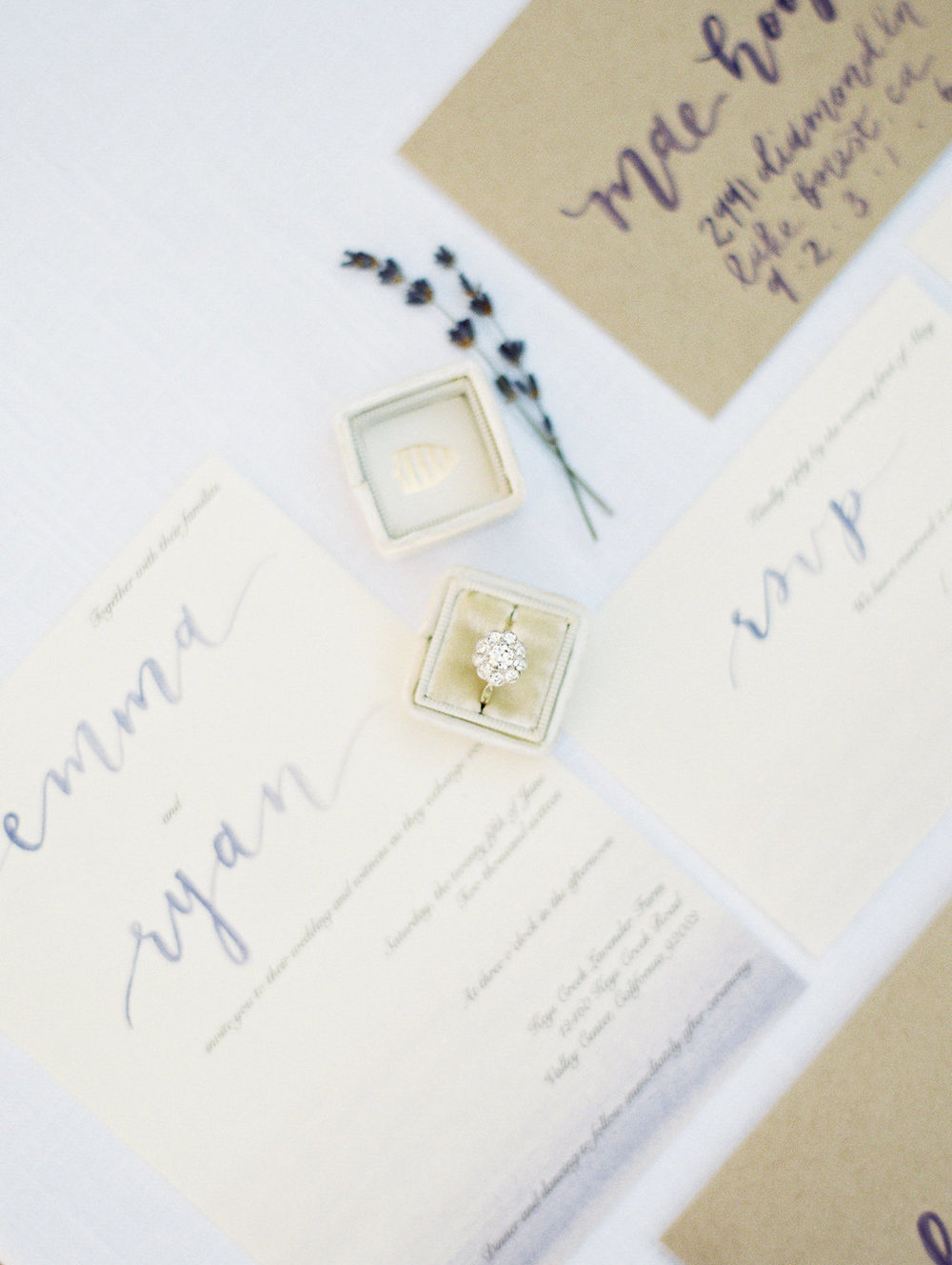 pirouettepaper.com | Mallory Dawn Photography | Romantic and Dreamy Lavender Wedding | Pirouette Paper Company | Love Quote | Wedding Calligraphy and Invitations, Menus and Place Cards