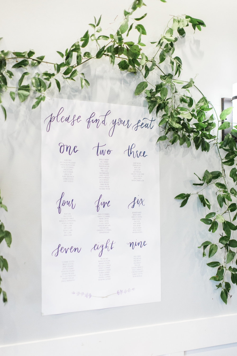 Pirouette Paper |  Calligraphy and Wedding Invitations, Programs, and Place Cards | Seating Chart | Georgia Wedding
