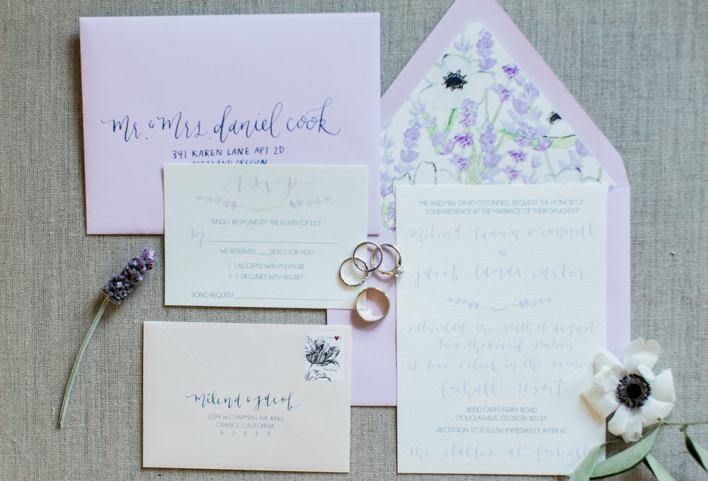 Pirouette Paper |  Calligraphy and Wedding Invitations | Georgia Wedding