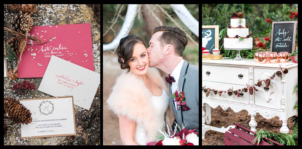 CHRISTINE SKARI PHOTOGRAPHY  |  HOLIDAY WEDDING INSPIRATION  |  GREEN WEDDING SHOES  |  HOLIDAY WEDDING STATIONERY AND CALLIGRAPHY