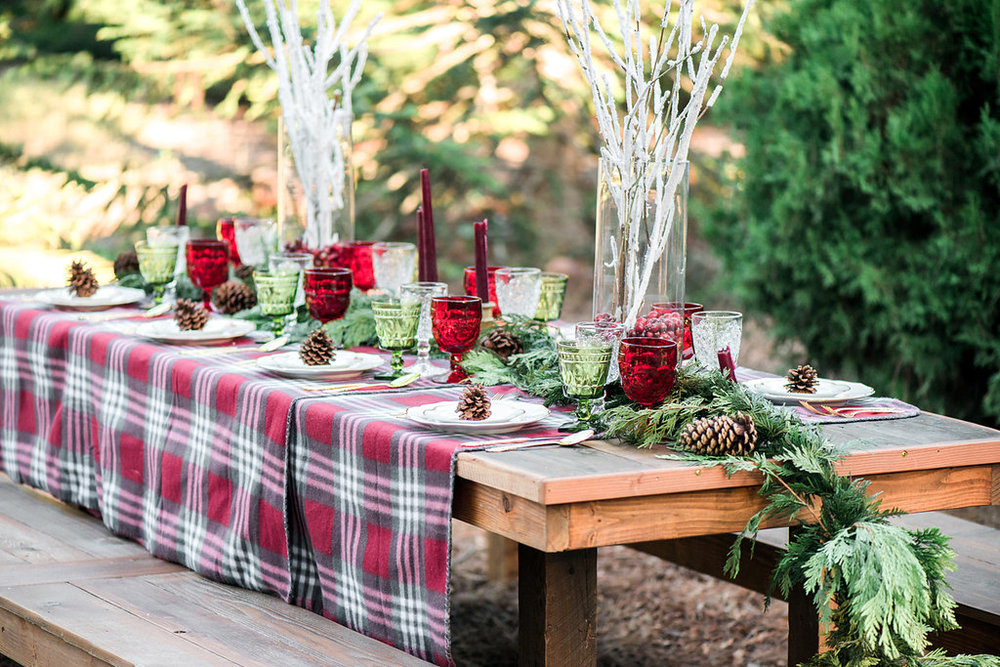 CHRISTINE SKARI PHOTOGRAPHY  |  HOLIDAY WEDDING INSPIRATION  |  PLAID HOLIDAY INSPIRATION GREEN WEDDING SHOES  |  CHRISTMAS HOLIDAY WEDDING INVITATIONS AND STATIONERY  |  PIROUETTE PAPER