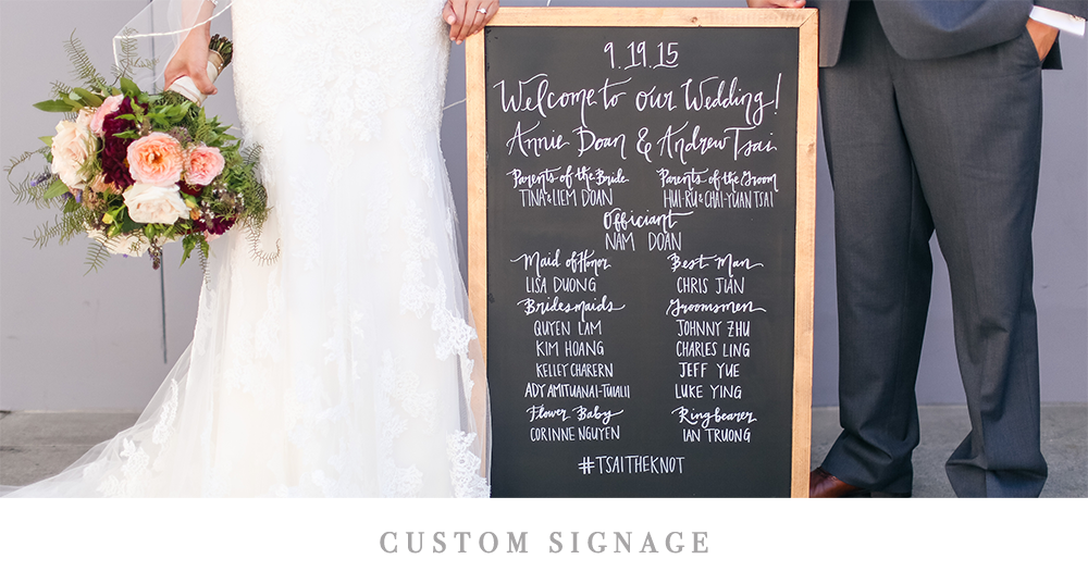Custom Wedding and Event Signs | Pirouette Paper Company