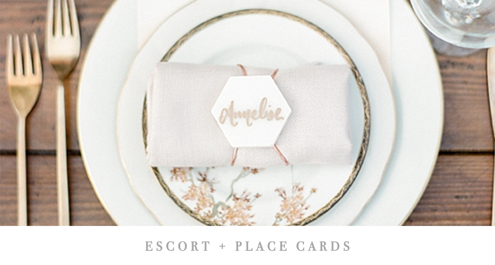 Escort Cards | Pirouette Paper Company