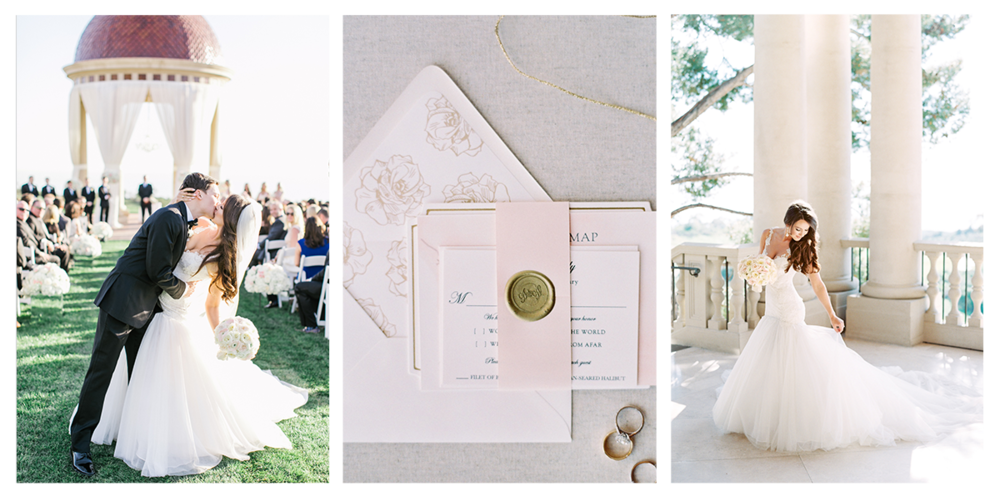 FERNANDES WEDDING | PELICAN HILL RESORT WEDDINGS | THE GROVERS | PIROUETTE PAPER | CUSTOM INVITATION AND CALLIGRAPHY