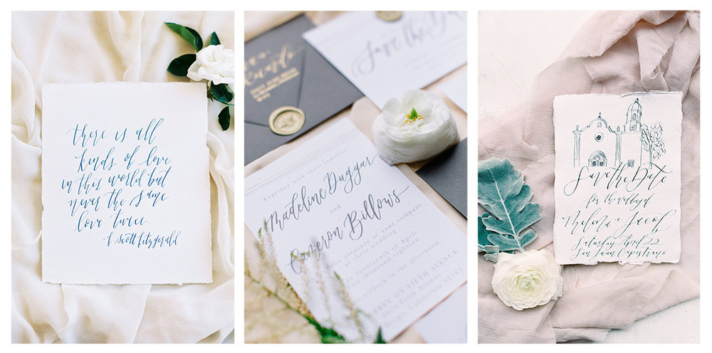 Calligraphy Services | Pirouette Paper Company