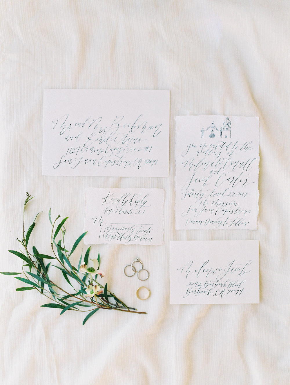 San Juan Elopement and Wedding | Mission San Juan Capistrano | Pirouette Paper Company | Calligraphy and Invitations  | Mallory Dawn Photo