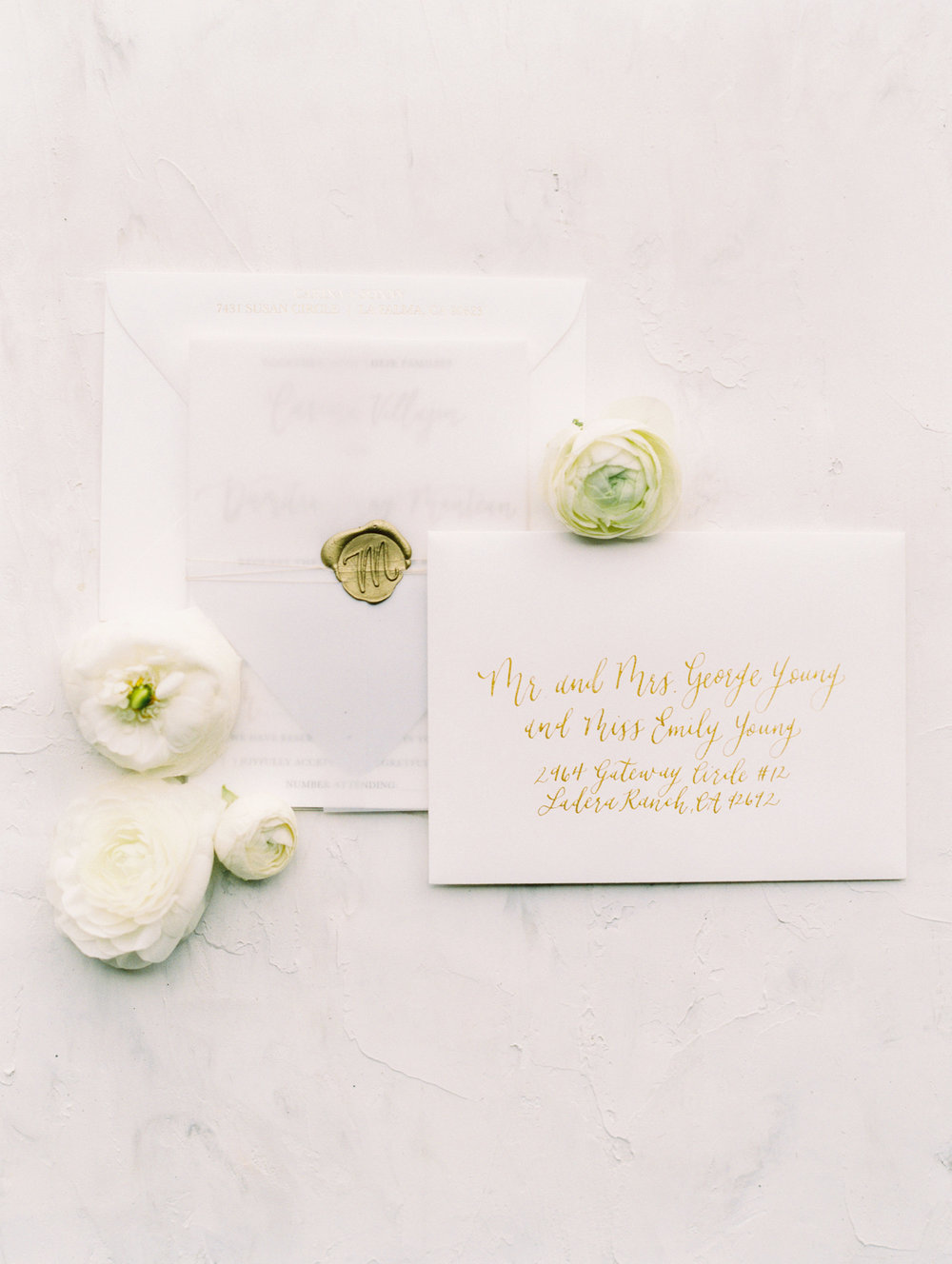 Pirouette Paper | Custom Invitations, Calligraphy and Design | Carina and Sonny San Juan Capistrano Wedding | Mallory Dawn Photography