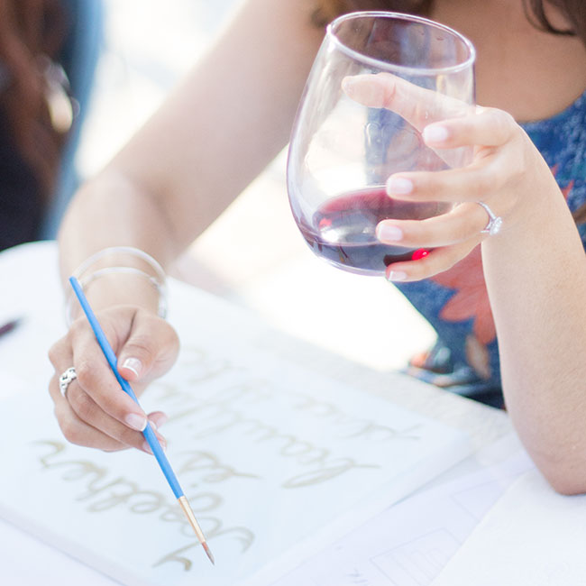 Cabernet and Calligraphy Workshop | Pirouette Paper Workshops