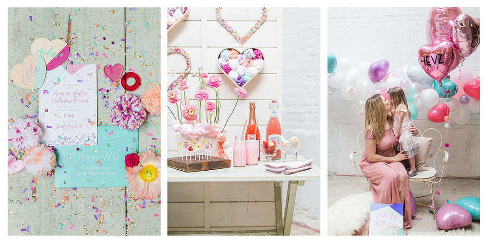 Ragi and Amanda | Valentine Brunch Idea | Pirouette Paper Calligraphy and Design | Penelope Pots Floral Design
