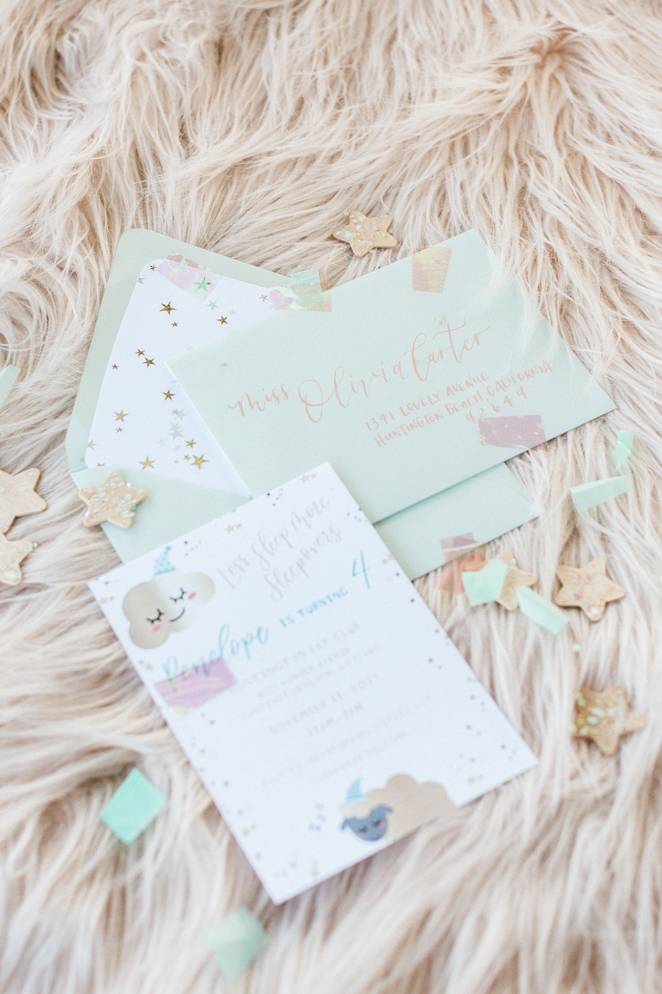 Ragi and Amanda | Pirouette Paper Calligraphy and Design | Penelope Pots Floral Design | Golden Arrow Events and Design | Elise Cakes | Sleepover Birthday Party