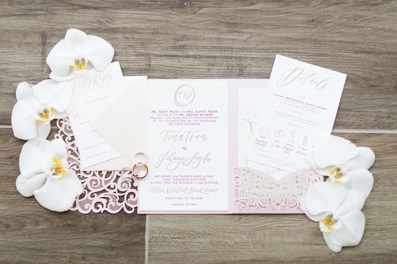 pirouettepaper.com | Wedding Stationery, Signage and Invitations | Pirouette Paper Company | The Waterfront Beach Resort Hilton Huntington Beach Wedding | Katrina Jayne Photography_.jpg