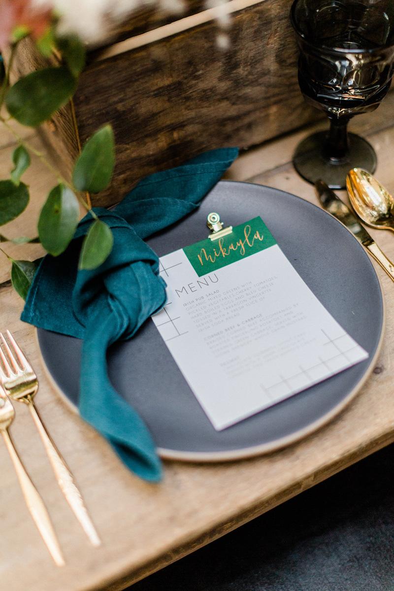 pirouettepaper.com | Wedding Stationery, Signage and Invitations | Pirouette Paper Company | Modern St. Patrick's Day Wedding | Ragi & Amanda Photography _ (3).jpg