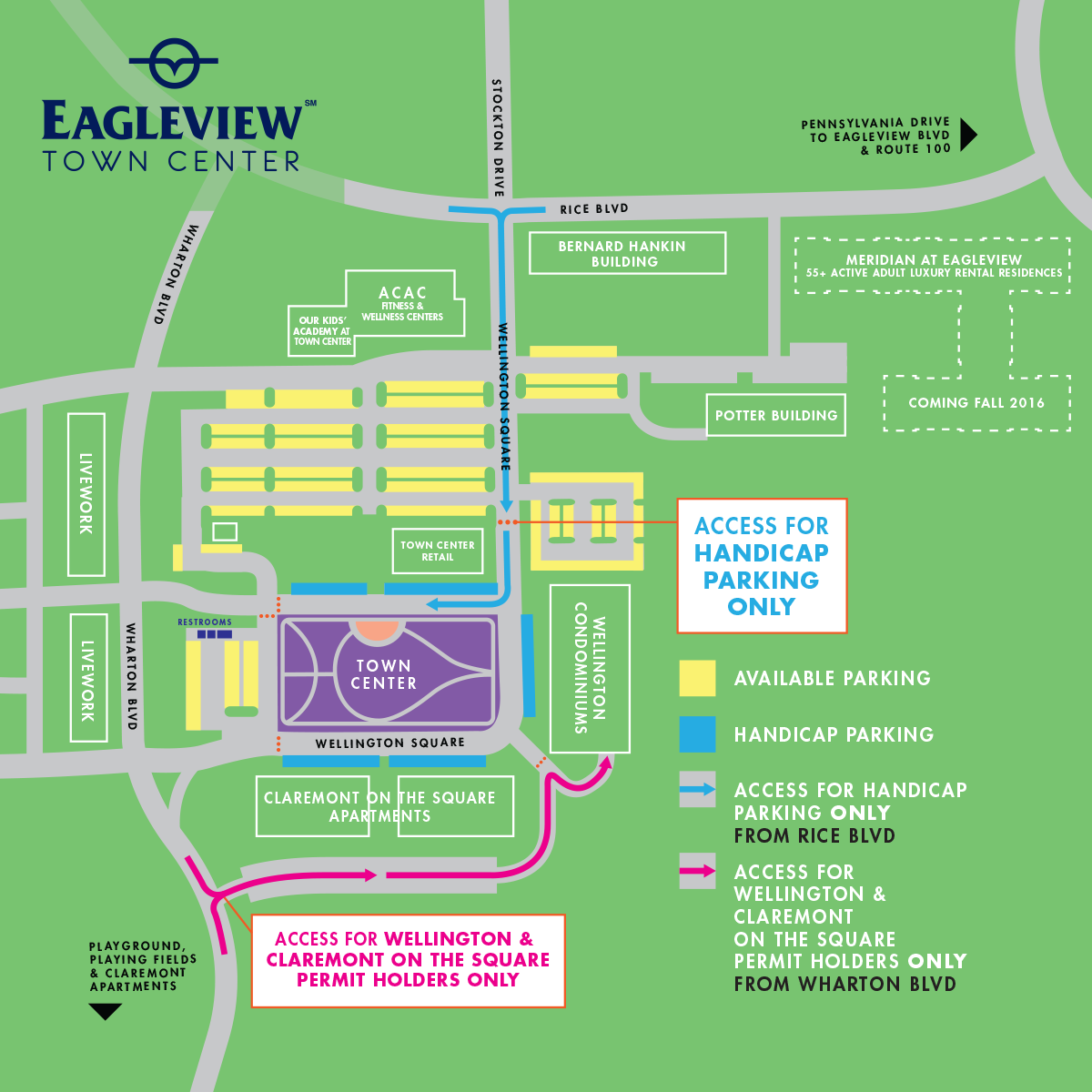 town center event map 2015