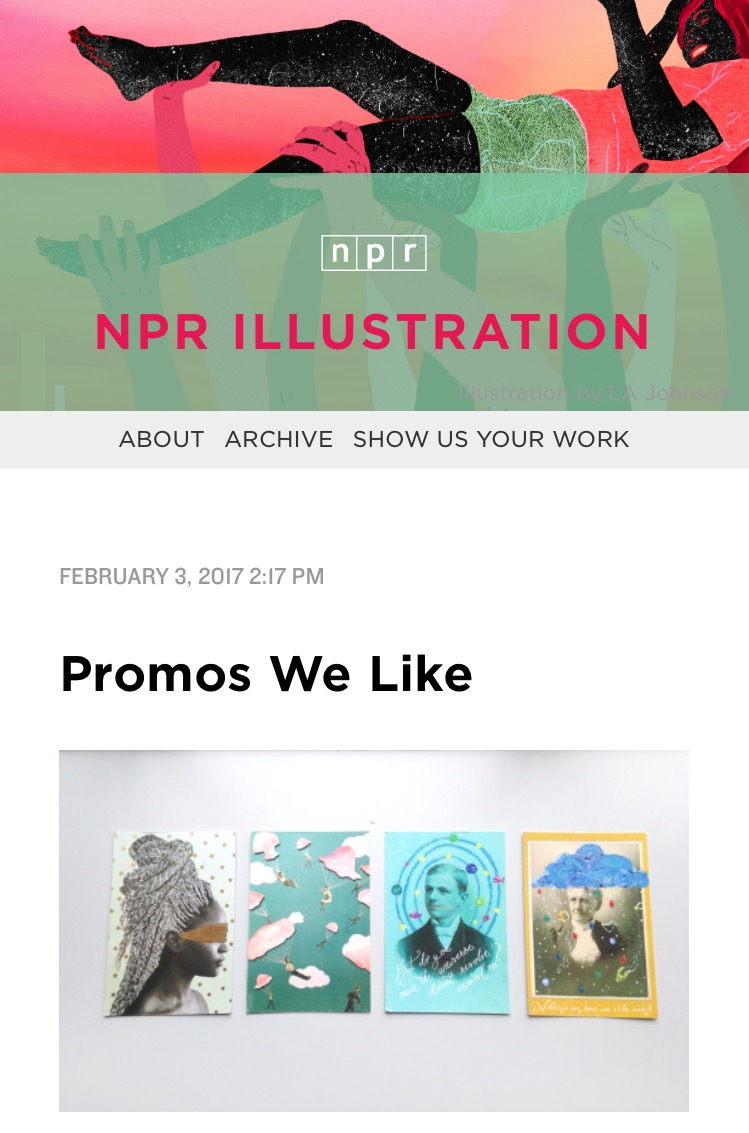 Lo and behold I not only receive an email but a shout out on NPR's website. It means so much to be heard. Even if it is not a job just yet, I am grateful for the small win.