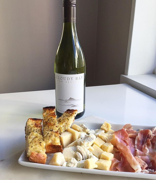 Start your #weekend early with @cloudybay #sauvignonblanc and #charcuterie. We are huge fans of this crisp New Zealand wine. It's perfect for all of your summer gatherings.