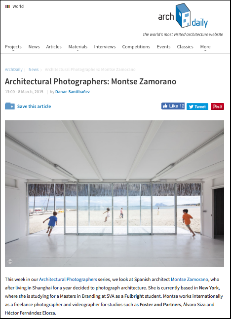 archdaily interview montse zamorano