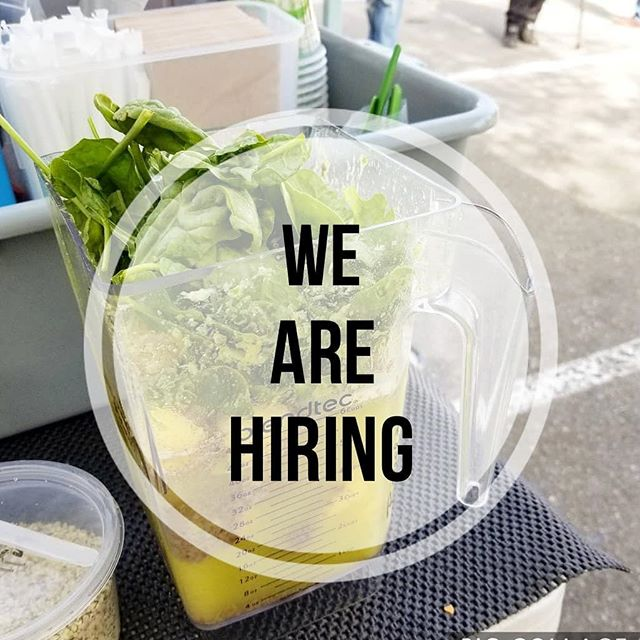 We are hiring for part-time and seasonal positions for our Farmers Markets! Please spread the word and send resumes via EMAIL ONLY. Thank you!  Email: info@rawkstarcreations.com