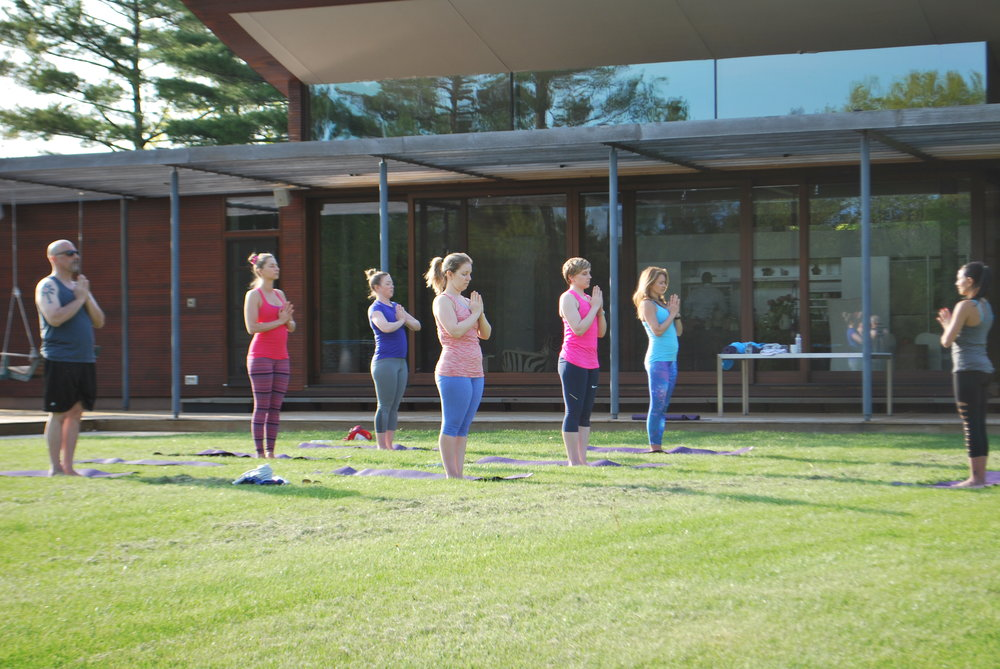 Outdoors Yoga Class at the Retreat