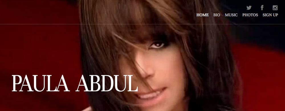 Visit Paula Abdul