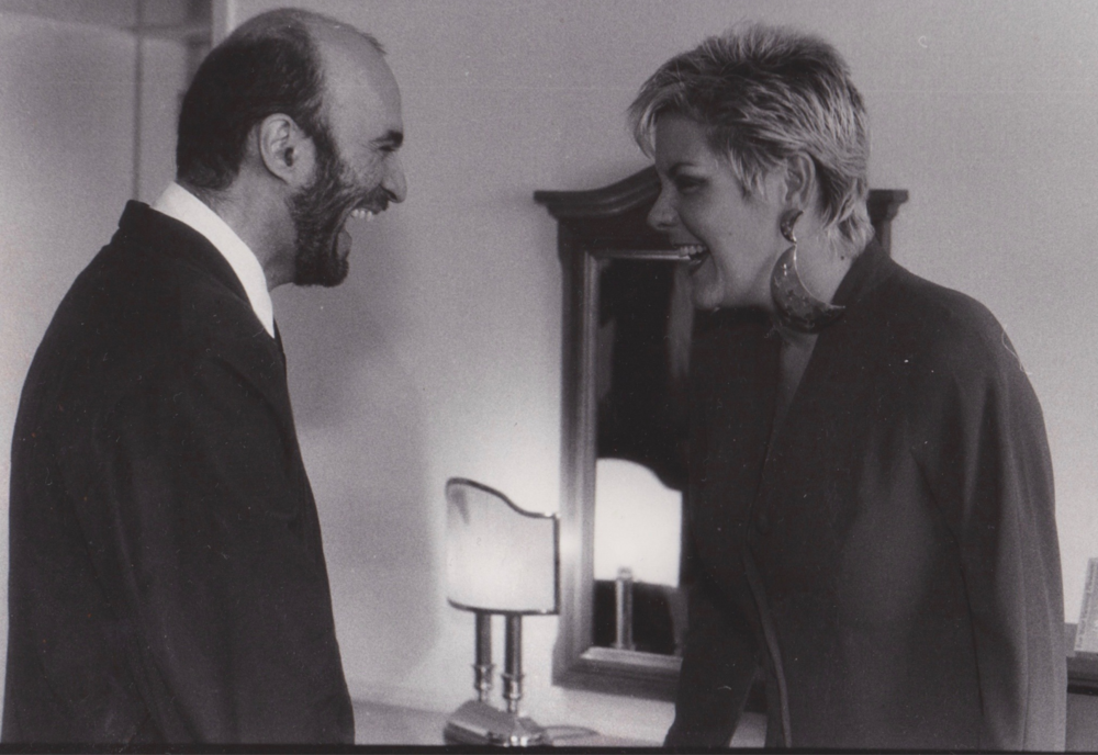Ruth McCartney and Nasim Nadirov in Russia circa 1991