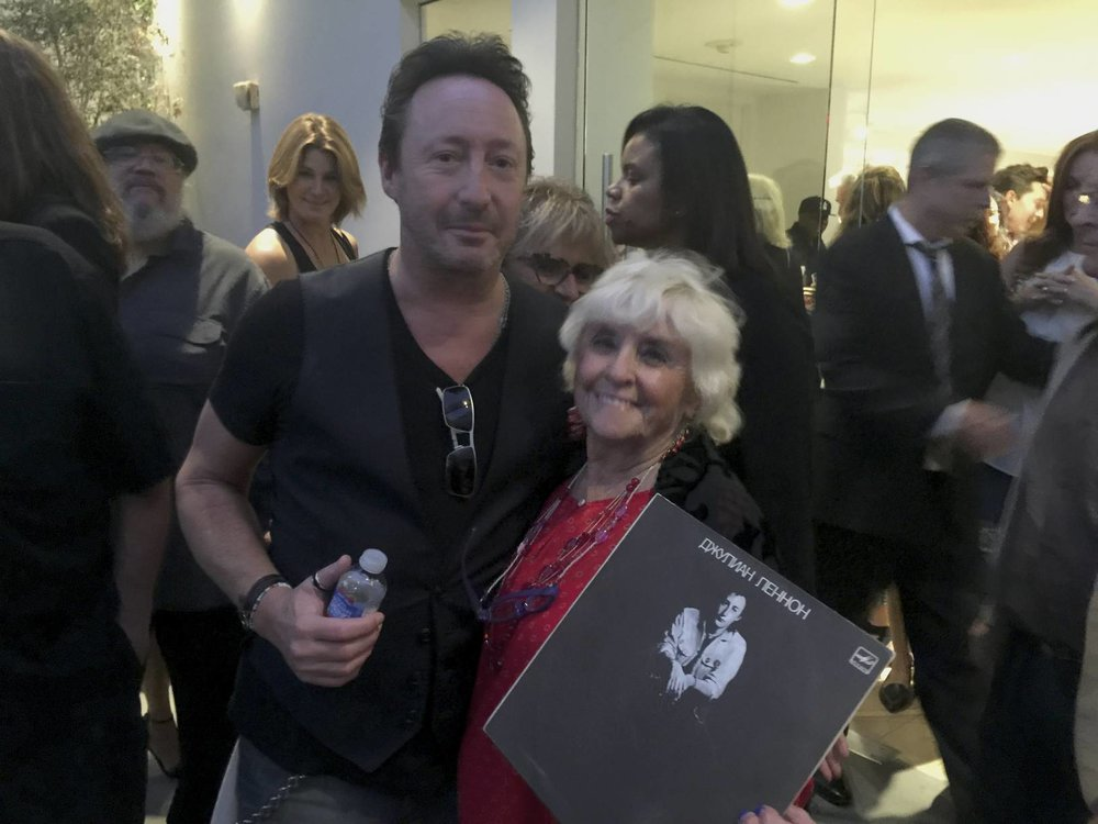 Julian Lennon and Angie McCartney