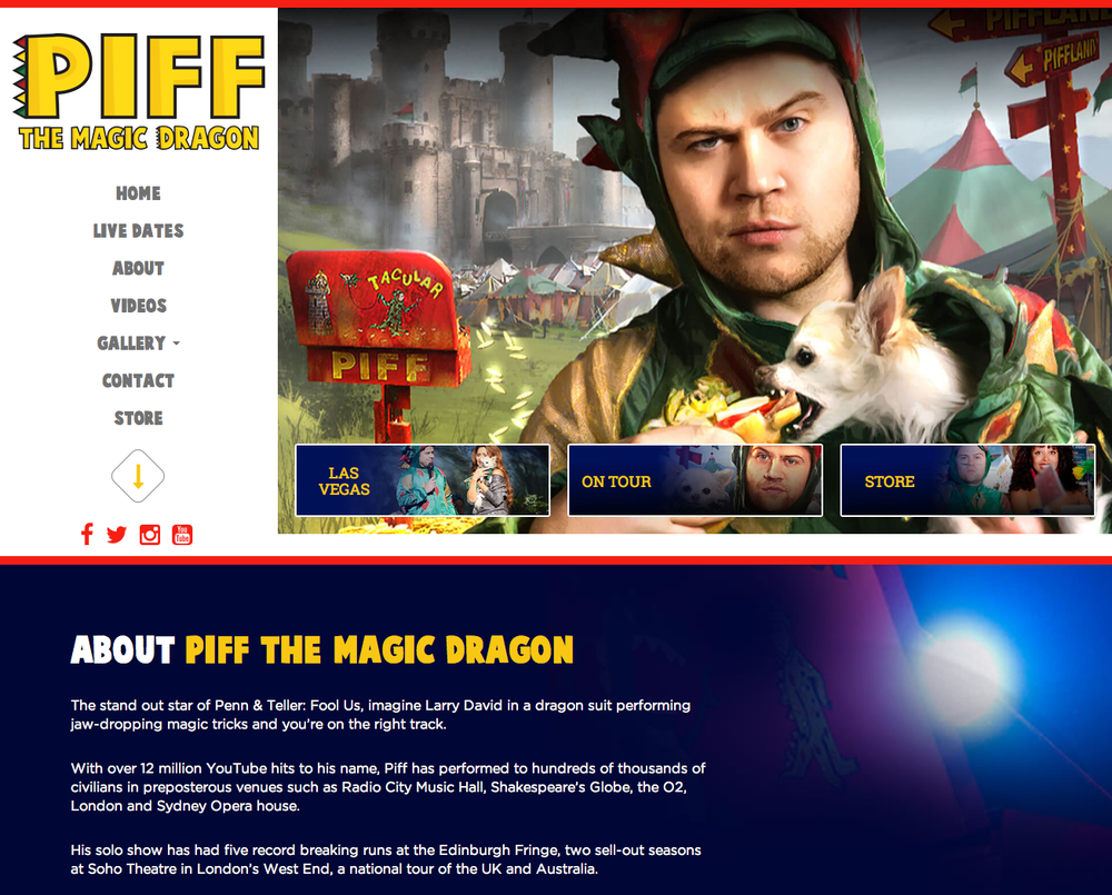 Visit Piff The Magic Dragon Site
