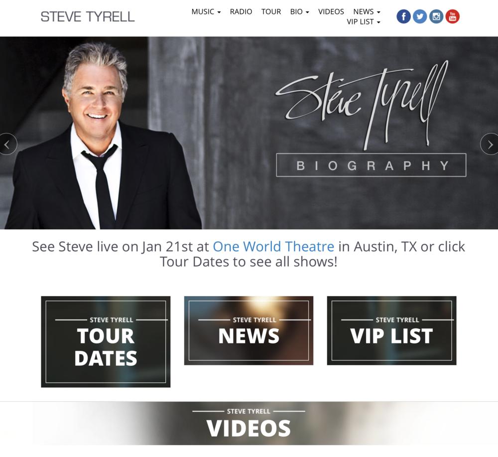 Steve Tyrell Web Site.