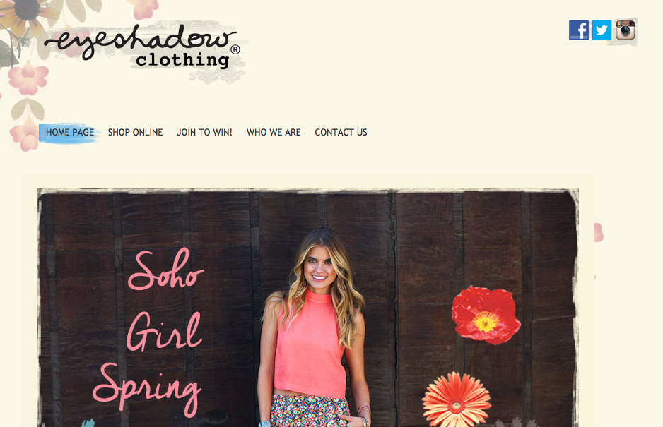 Visit  EyeShadowClothing.com