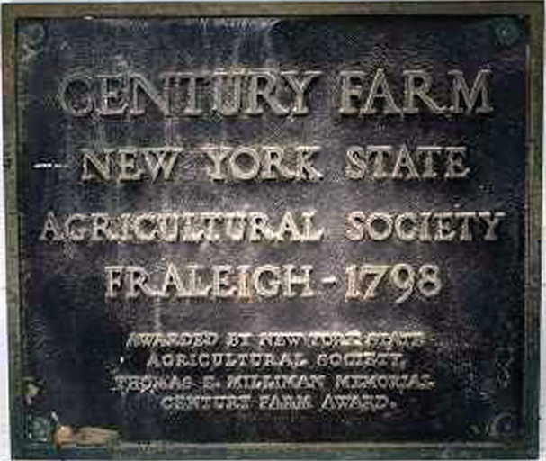 Century Farm Award by New York State Agricultural Society